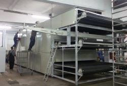 Производствен процес-монтаж на машина за производство на латексна вата